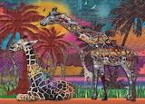 Anie Maltais 'Rainbow Giraffes'