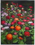 Kathie R. Kerler - flower quilt cosmos
