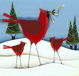 ^ Cardinals ~ Wilson and Wilson Folk Art