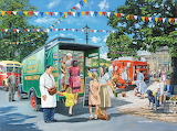 Mobile Shop in the Market Place - Trevor Mitchell