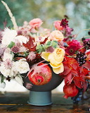 Floral & Pomegranate Fall Centerpiece