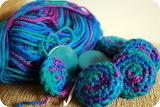 ^ Crochet buttons