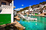 Villlage of Mallorca Homes and Boats Spain