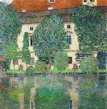Detail of Schloss Kammer on Lake Attersee by Gustav Klimt