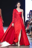 Asymmetric Red Gown