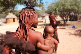 Namibia, village, woman Himba, hair, tradition, ethnic, culture