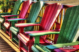 Green Red chairs