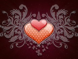 Polka dot picture, patterns, Hearts