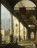 Interior of a Courtyard, Venice by Canaletto