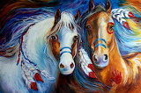 Spirit-indian-war-horses-commission-marcia-baldwin