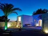 Beautiful luxury villa in Ibiza at night