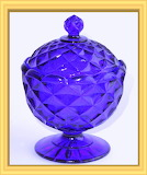 Depression Glass Cobalt Blue