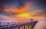 pier in the dusk