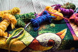 Tapestry Weaving Process by Maximo Laura