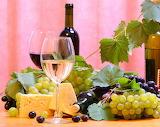 Vinos uva y queso