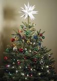 ^ Christmas tree with Moravian Star