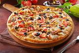 Pizza con vegetales