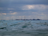 Blue Ice at Marblehead, Lake Erie, 2014