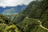 Road Yungas Valley Bolivia
