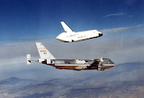 12 August 1977, US Space Shuttle Enterprise, first free flight