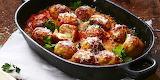Mozzarella-stuffed-turkey-meatballs
