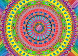 Rainbow Mandala by Yesenia, Flickr Photo Sharing,weheartit.com