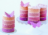 Purple mini cakes @ Glorious Treats