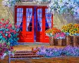 ^ Cuadros de flores con espatula ~ Mikki Senkarik