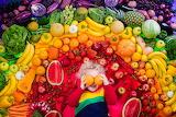 Kid Among Rainbow