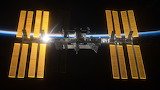 International Space Station salutes the Sun, © NASA, ESA