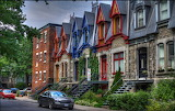 Montreal Canada - Victorian row houses
