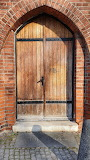 Door to Anglican Church Bucharest Romania