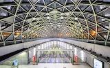 Escalators Bikas Part Metro Station Budapest Hungary