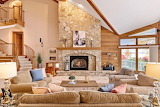 Fireplace in Multi-Level Space