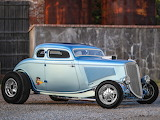 1934 Ford coupe blue