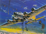 B17 Flying Fortres on a bombing run Wallpaper yvt2