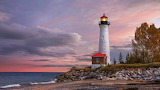 Crisp Point Lighthouse. Paradise, Michigan