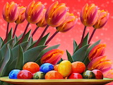 Colours-colorful-Easter-eggs-tulips