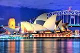 Sydney Opera House, Sydney, Australia at night