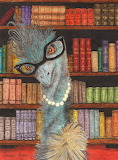 Mrs. Emu the librarian