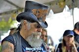 Biker, man, beard, hat, tattoos