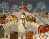 ^ Village Snowman ~ Mary Charles