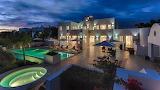 Stunning Villa and pool at night in Antigua
