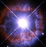 Shedding star, ESA, NASA Hubble