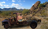 Wreck of an old Ford wrecker
