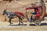 carriage in Siq Canyon, Jordan