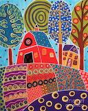 Barn Garden Landscape by Karla Gerard