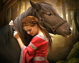 Girl & Horse painting