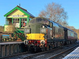 North Weald station (England) on a frosty morning.