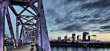 Blue Hour on the bridge in Little Rock Arkansas